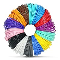 3D Pen Filament Refills - 14 vibrant colors including 4 glow-in-the-dark and FREE Stencils eBook - 1.75mm ABS filament - 280 Linear Feet Must have for anyone who owns a 3D printer pen! by JoyCrafty