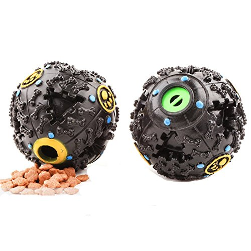 [Lifeunion Smarter Interactive IQ Treat Drain Leakage Food and Dental Chew Ball Dog Toy Pack of Two] (Dog Magnetic Toy)
