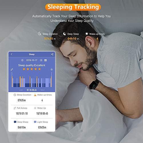 WAFA Fitness Tracker with Heart Rate Blood Pressure Monitor, Waterproof Fitness Watch, Bluetooth Smart Watch with Sleep Sports Data Monitor GPS Activity Tracker Pedometer Watch for Kids Women Men 4