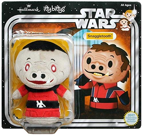 Star Wars Celebration Orlando 2017 Exclusive Itty Bittys Snaggletooth Carded Plush