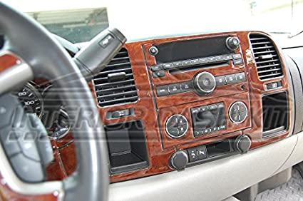 CHEVROLET CHEVY SILVERADO INTERIOR WOOD DASH TRIM KIT SET 2007 2008 2009