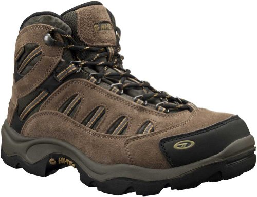 Hi-Tec Men's Bandera Mid Waterproof Hiking Boot, Bone/Brown/Mustard, 14 M US
