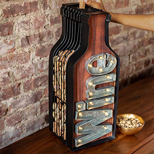 Lighted Wine Bottle Cork Catcher by Wine Enthusiast (Image #2)