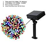 Malayas USB Operated Waterproof 200 LED Solar Battery Power Fairy String Lights for Indoor and Outdoor Decor Xmas Party