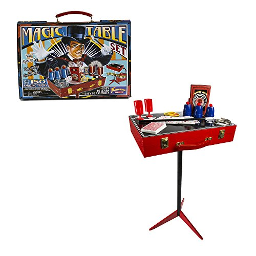 Fantasma Toys Retro Magic Table Set – Loaded with Props and Featuring 150 Magic Tricks – Includes Instructional Video Download and Book of Secrets – Ages 6 and Up