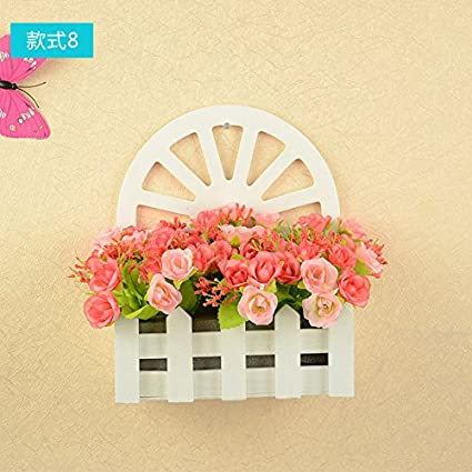 amazon com artificial flowers wall mount circular white fence rose rh amazon com red rose homestay de cameron rose red home