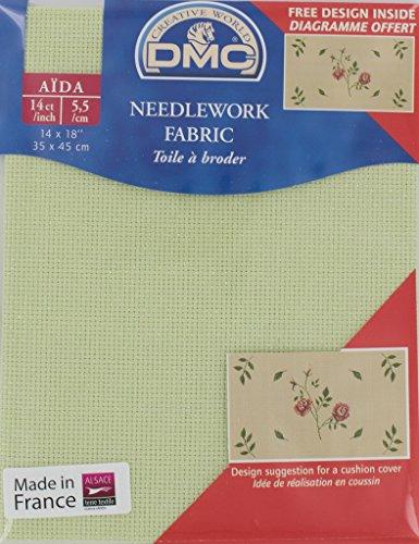 DMC 14 Count Iridescent Green Aida Fabric 14×18 Inches (35x45cm) – DC27IRI/772