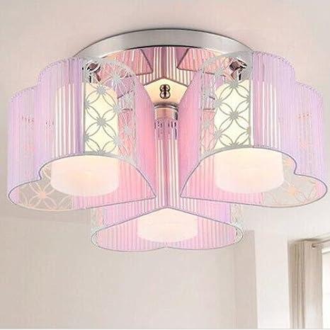 LightInTheBox Modern Art Deco Fabric Chandelier Pink Pendant Flush ...