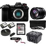 PANASONIC LUMIX G9 Mirrorless Camera with G Leica DG Nocticron 42.5mm Lens Bundle (black)