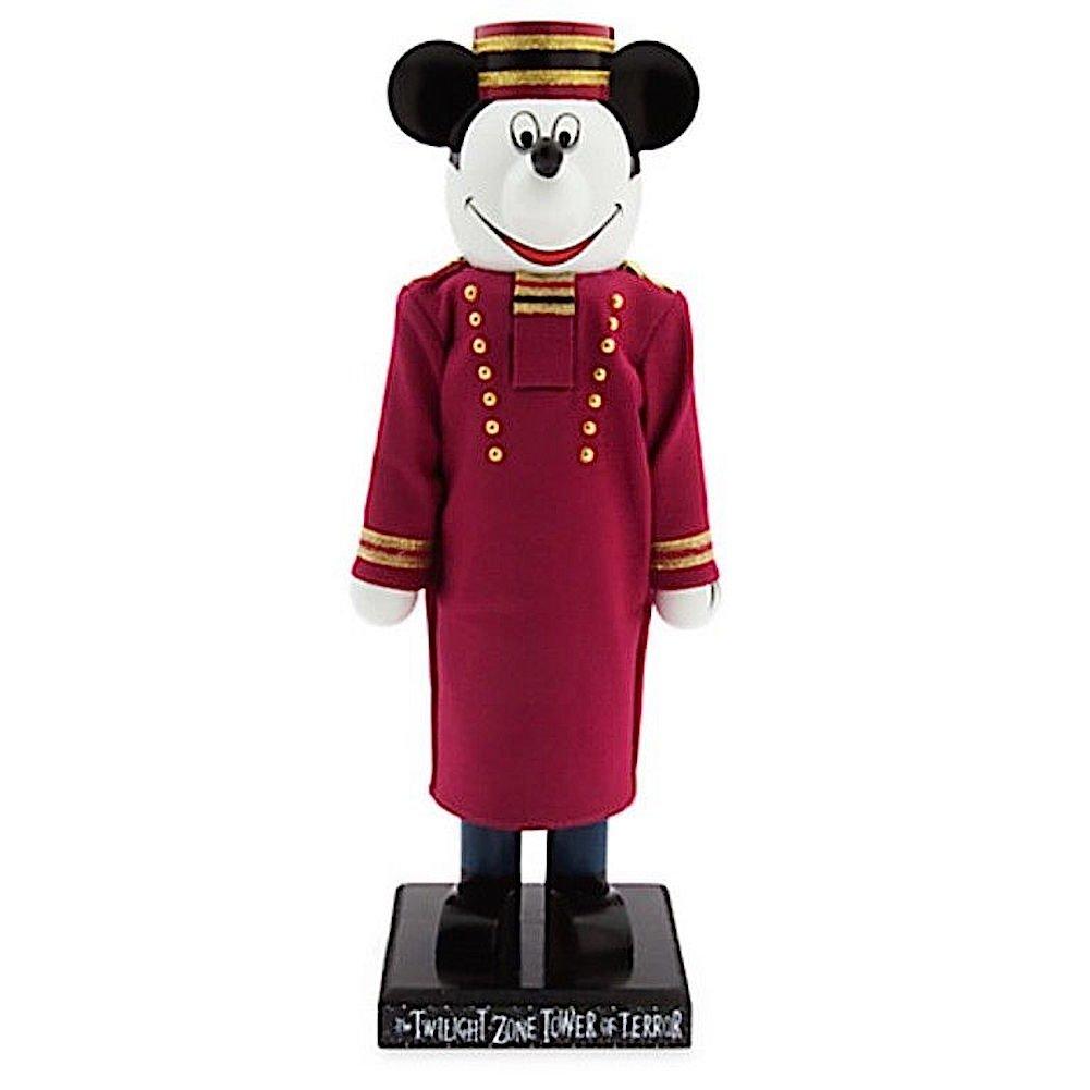 Disney Parks Mickey Mouse Tower of Terror Bellhop 13'' Wooden Nutcracker Figurine