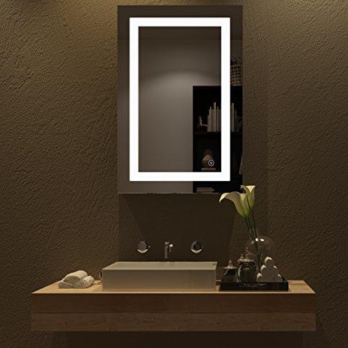 HOME SCEVA Vanity Bathroom LED Lighted Mirrors Frameless Backlit ...