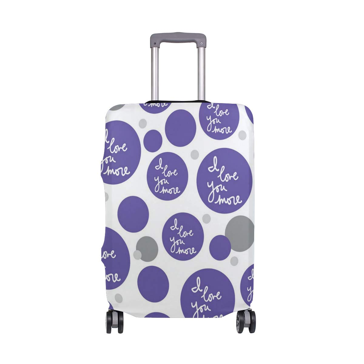 Travel Luggage Cover DIY Prints Protector Suitcase Baggage Fit 18-32 inch - I Love You More