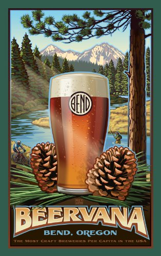 Northwest Art Mall Bend Oregon Beervana Unframed Prints by Paul B Leighton, 11-Inch by ()