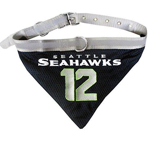 Pets First NFL Seattle Seahawks No.12 Man Pet Bandana, Medium (Seahawk Dog Bandana)