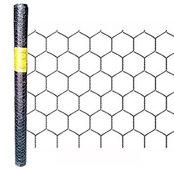 Garden Mesh verzinkt hexagonaler Fencing Länge 25 m Höhe 100 cm ...