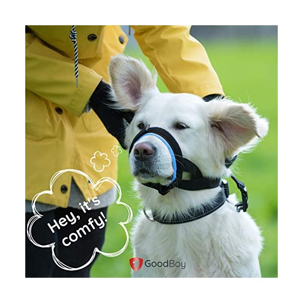Gentle Muzzle Guard for Dogs - Prevents Biting and Unwanted Chewing Safely Secure Comfort Fit - Soft Neoprene Padding - No More Chafing - Included Training Guide Helps Build Bonds with Pet 6