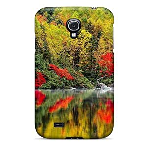 Pretty WNkljFU4615BghsA Galaxy S4 Case Cover/ Forest In Autumn Reflected In River Series High Quality Case