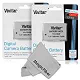 (2 Pack) Vivitar LP-E8 Ultra High Capacity 1300mAH Li-ion Batteries for CANON REBEL T5i T4i T3i T2i, EOS 700D 650D 600D 550D DSLR (Canon LP-E8 Replacement)