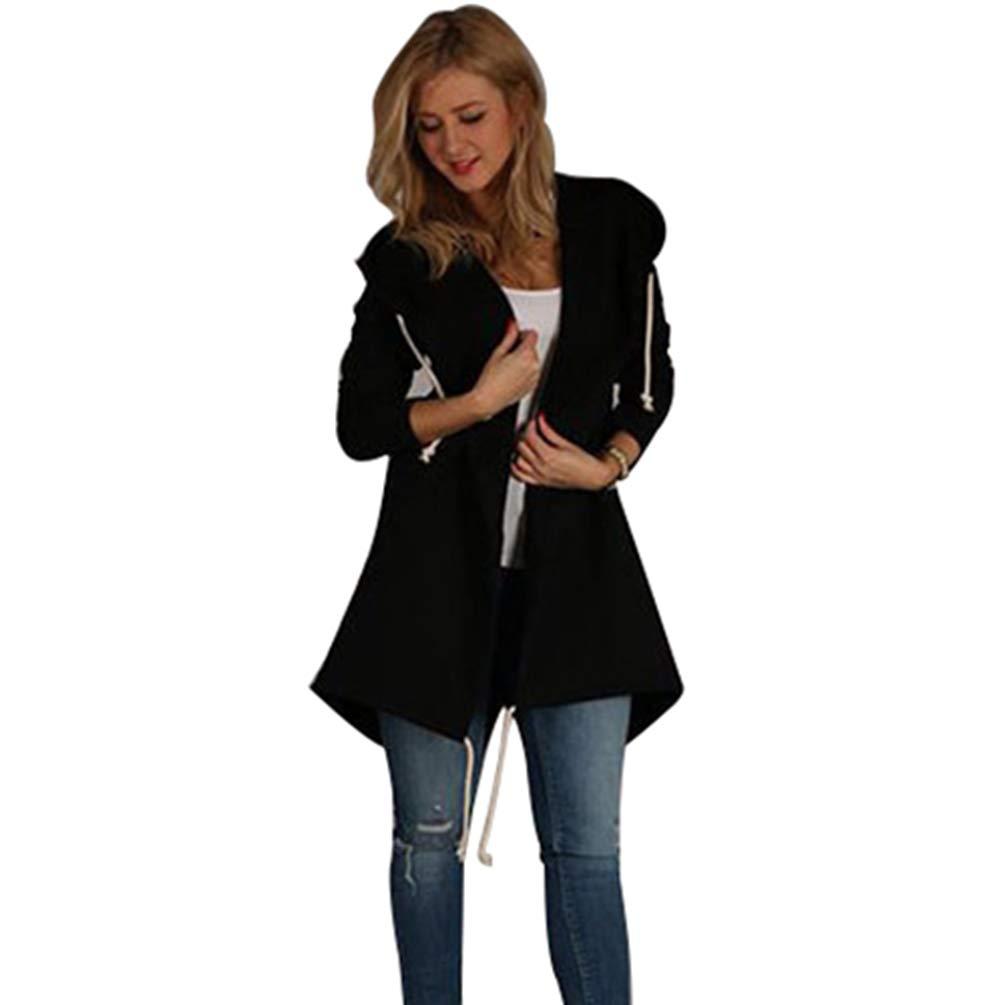 Tookang Mujer Sudadera Jersey con Capucha De Manga Larga Cárdigan Cálido Chaqueta Sudaderas Camisa De Entrenamiento (Conjunto De Abrigo Y Pantalones): ...