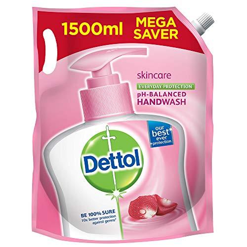 Dettol pH-Balanced Skincare Liquid Handwash Refill Super Saver Pack, 1500ml