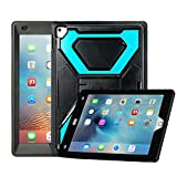 iPad Pro 9.7 Case, iPad Air 2 Case, OLG Premium TPU [Shockproof] [Heavy Duty] High Impact Bumper Case with Kickstand for Apple iPad Air 2/iPad Pro 9.7 inch Tablet, Black Blue