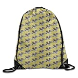 Wire Haired Fox Terrier Dog Pet Cool Drawstring Travel Sports Backpack Gift