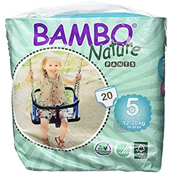 Bambo Nature Training Pant, Size 5 (26-44 Lbs) - 20 Count