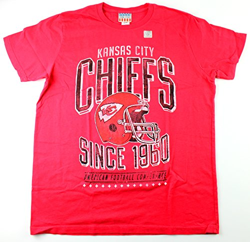 Junk Food Flower - Kansas City Chiefs NFL Men's 1960 Kick Off Crew (Small)