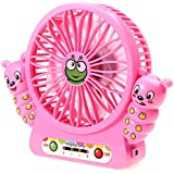 RoyalTop Mini Summer Creative Desktop Handheld Fan Cartoon Caterpillar USB Charging