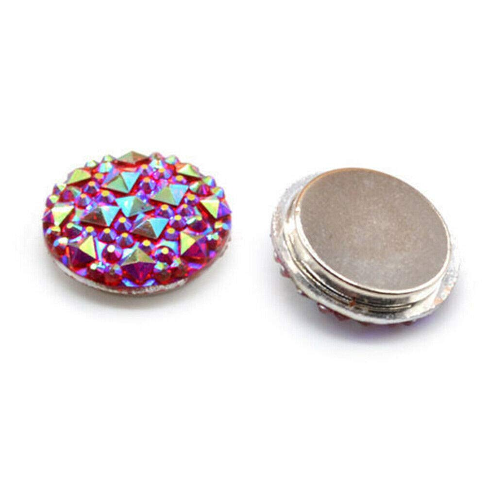 Angel3292 1Pair Muslim Round Magnet Brooch Pins Clasp Hijab Scarf Abaya Clothes Jewelry Gift by Angel3292 (Image #3)