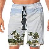 States Lighthouse Beach Florida Atlantic Ocean Palms Coast Classic Men's Quick Dry Printed