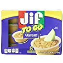 Jif To Go Crunchy Peanut Butter, 12 Ounce (Pack of 6)