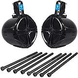 Rockville (2) EasyMount Soundbar/Roll bar Speakers 8 600 W Waterproof For Jeep Wrangler