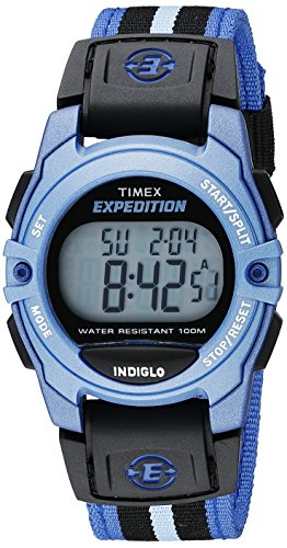 Price comparison product image Timex Unisex TW4B02300 Expedition Mid-Size Digital CAT Blue/Black Nylon Strap Watch