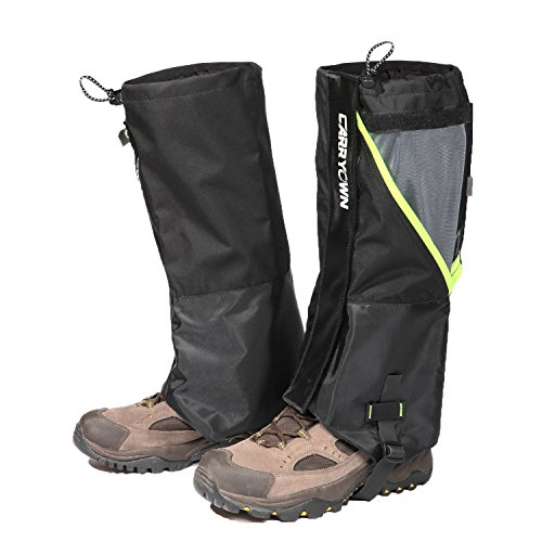 Carryown Leg Gaiters - Waterproof Snow Gaiter Shoes Gaiters for Men Women Youth Kids, Double-Layers Mountain Outdoor Breathable for Hiking Walking Climbing Hunting Leg Cover (S, M, L, XL)