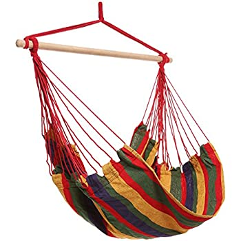 Homdox Hanging Rope Hammock Chair Porch Swing Seat For Indoor Or Outdoor  Spaces Max.265