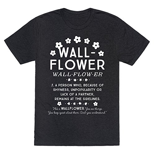 LookHUMAN Definition of a WallFlower Heathered Black Medium Mens/Unisex Fitted Triblend Tee