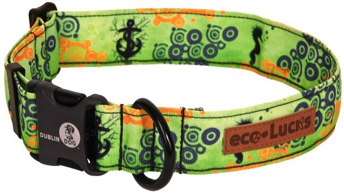 Dublin Dog Co Eco Lucks Hampton Dog Collar, Atlantis, 15 by 24-Inch, Large