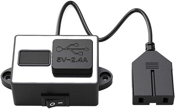 CPTDCL - Cargador de teléfono eléctrico para Bicicleta (2,4 A, USB ...