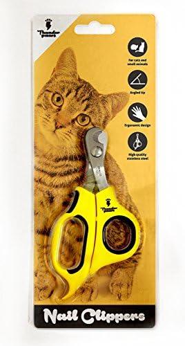 Thunderpaws Coupe-Griffes Professionnel pour Chat avec Tête Incurvée - Convient aux Chats et Petits Animaux de Compagnie (Chats et Petits Animaux, Jaune)