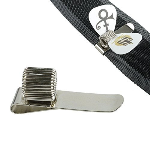 Mr.Power Pick holder Metal Clip Plug-in Guitar Strap