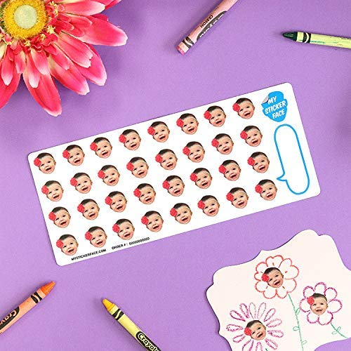 Custom Face Stickers, Pet Stickers, Stickers of Your Face, 0.75'' Sticker Sheet - 5 Pack - Custom Gift