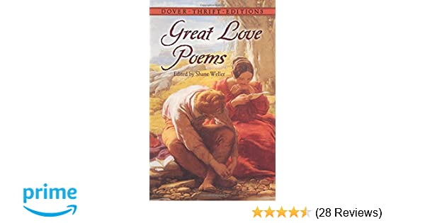 great love poems dover thrift editions shane weller 9780486272849 amazoncom books