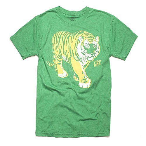 Easy, Tiger Unisex Crew Neck T-Shirt, Green