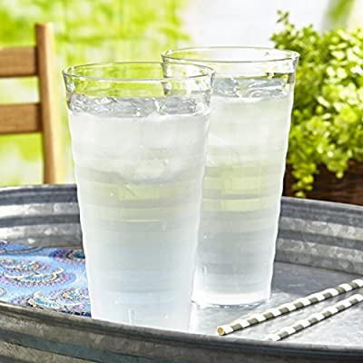 Splash Clear Plastic Tumblers | set of 8