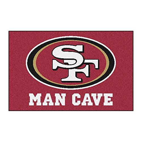 (FANMATS 14365 NFL San Francisco 49ers Nylon Universal Man Cave Starter Rug)