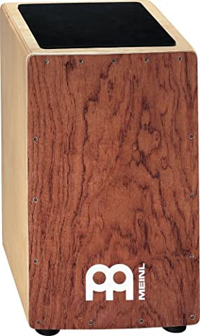 Meinl Percussion CAJ300BU-M Ergo-Shaped String Cajon, Bubinga Frontplate - Bubinga Body