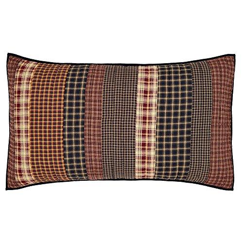 VHC Brands Rustic & Lodge Bedding - Beckham Red Sham ()