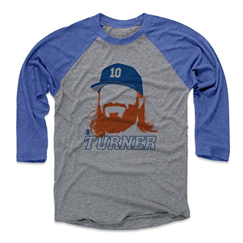 500 LEVEL's Justin Turner Los Angeles Shirt - Baseball Shirt Large Royal / Heather Gray - Justin Turner Silhouette B