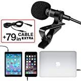 Kyпить Professional Grade Lavalier Lapel Microphone ­ Omnidirectional Mic with Easy Clip On System ­ Perfect for Recording Youtube / Interview / Video Conference / Podcast / Voice Dictation / iPhone на Amazon.com